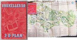 Expo58 Bruxelles Plan 3D - Old Paper