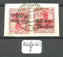 ALL(Ge.Go) Mi 10 (x2) En Obl Sur Fragment - Occupation 1914-18