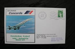 France  Paris Washington Mexico City Inaugural Flight Concorde Special Cancel 1978  A04s - Concorde
