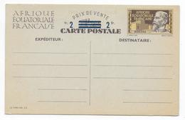 1944 - AEF - CARTE ENTIER CORRESPONDANCE FAMILIALE (VOIR DOS) - ACEP N°1 - A.E.F. (1936-1958)