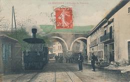 LE PERTUISET - L'ARRIVEE DU TRAMWAY (TRAMWAY A VAPEUR GROS PLAN) - France