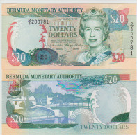 Bermudas 20 Dollars 2000 Pick 53A UNC - Bermuda