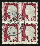 FRANCE - YT 1263 - BLOC DE 4 TIMBRES OBLITERES - Used Stamps