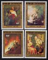Centrafricaine P. A.  N° 230 / 33 XX  Tableaux De Rembrandt, Les 4 Valeurs Sans Charnière, TB - Centrafricaine (République)