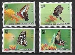TAIWAN, CHINA 1989 BUTTERFLIES  MNH - Butterflies