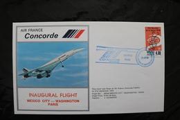 France  Mexico City Washington Paris Inaugural Flight Concorde Special Cancel 1978  A04s - Concorde
