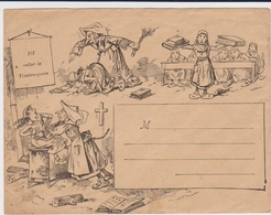 France - Lettre - Propagande Anti-clericale - Histoire - Séparation Eglise - Postmark Collection (Covers)