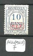 ALL(MViR) Mi Taxe 2 En Obl - Occupation 1914-18