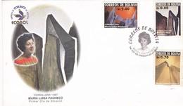 """CORDILLERA"" 1967 MARIA LUISA PACHECO. ECOBOL BOLIVIA 2002 FDC PRIMER DIA -LILHU - Bolivie"