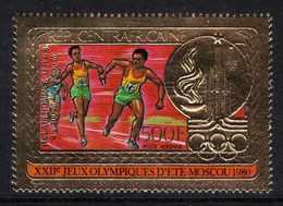 Centrafricaine P. A.  N° 239 XX Vainqueurs Aux Jeux Olympiques De Moscou, 1500 F. Or Sans Charnière, TB - Centrafricaine (République)