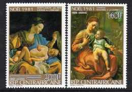 Centrafricaine P. A.  N° 249 / 50 XX Noël : Tableaux, Les 2 Valeurs Sans Charnière, TB - Centrafricaine (République)