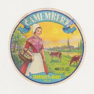 ETIQUETTE DE CAMEMBERT FABRIQUE EN BERRY 36 A - Kaas