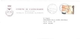 2001 £800 €0,41 CICOGNA BUSTA COMUNE DI CASTELMARTE COMO - Cicogne & Ciconiformi