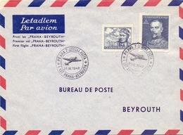 CECOSLOVACCHIA 1948 AIR MAIL PRAHA PERFECT   (FEB201002) - Posta Aerea