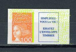 FRANCE - LUQUET 1,00 Orange Type 1 N° Yt 3101a** MACULÉ DE PHOSPHORE - Varieties: 2000-09 Mint/hinged