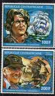 Centrafricaine P. A.  N° 252 / 53 XX Les Grands Navigateurs, Les 2 Valeurs Sans Charnière, TB - Centrafricaine (République)