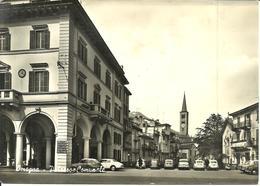 Omegna (Verbania) Palazzo Comunale, Municipio E Campanile Chiesa,Town Hall, Hotel De Ville, Auto D'Epoca, Old Cars - Verbania