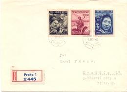 CECOSLOVACCHIA 1951 REGISTRED MAIL COVER  PRAHA  (FEB201007) - Cecoslovacchia