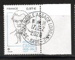 France 2020.René Guy Cadou.Cachet Rond Gomme D'Origine - Frankreich