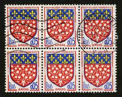 FRANCE - YT 1352 - BLOC DE 6 TIMBRES OBLITERES - Oblitérés