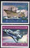Centrafricaine P. A.  N° 258 / 59 XX Moyens De Locomotion, Les 2 Valeurs Sans Charnière, TB - Centrafricaine (République)