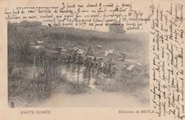 """BEYLA     HAUTE GUINEE    Environs De BEYLA    """"sechage Du Linge""""  COLONIES FRANCAISES TB PLAN  1913   RARE - Guinée Française"""