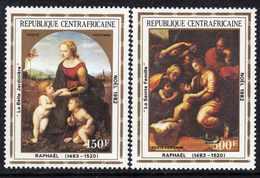 Centrafricaine P. A.  N° 261 / 62 XX Noël Tableaux De Raphaël, Les 2 Valeurs Sans Charnière, TB - Centrafricaine (République)