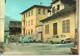 Anzino (Verbania) Valle Anzasca, Ospizio Sant'Antonio E Salone Parrocchiale, Animata, Auto E Furgoncino D'Epoca, Cars - Verbania