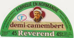 ETIQUETTE DE DEMI  CAMEMBERT REVEREND PAILLAUD CREULLY CALVADOS - Kaas