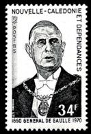 NOUV.-CALEDONIE 1971 - Yv. 377 **   Cote= 12,00 EUR - Général De Gaulle  ..Réf.NCE25118 - Nouvelle-Calédonie
