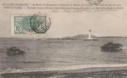 """CONAKRY   GUINEE FRANCAISE  Le Phare Du Dragonnier Indiquant La """"passe"""" De Conakry (Au Fond Les Iles De Loos)  1907 RARE - Guinée Française"""