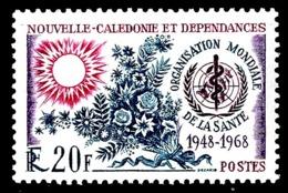 NOUV.-CALEDONIE 1968 - Yv. 351 **   Cote= 5,60 EUR - Organisation Mondiale De La Santé  ..Réf.NCE25083 - Nouvelle-Calédonie