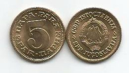 Yugoslavia 5 Para 1975. KM#43 X 10 Pcs Dealer Lot High Grade - Joegoslavië