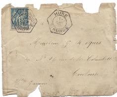 CACHET Recette Auxiliaire HURE GIRONDE 1898 SAGE 15C EN L'ETAT - Postmark Collection (Covers)