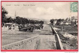 CPA 15 AURILLAC Place Du Gravier ( Marché Au Bois  ( Ro4 - Aurillac