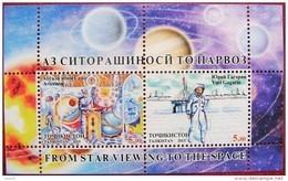 Tajikistan  2015   AVICENNA   Space   Gagarin  S /S  MNH - Medicine