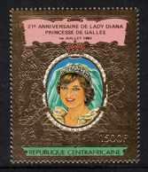 Centrafricaine P. A.  N° 265 XX 21ème Annive. De La Princesse De Galles,1500 F. Or,  Sans Charnière, TB - Centrafricaine (République)