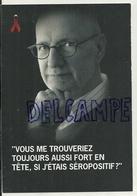 Jacques Mercier.  La Journée Mondiale Contre Le SIDA. Ruban Rouge.Carte Boomerang - Santé