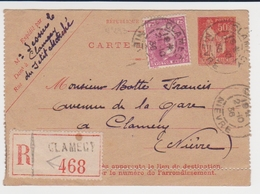 France - Carte Lettre 283 - 293 Victor Hugo - Recommandé Clamecy - 1921-1960: Modern Period