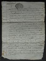 Manuscrit Du XVIIIe Siècle - Saint-Flour Et Bourges - Protagonistes, Les Curés Antoine Sauret Et Philibert Roche - Manuscritos