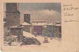 UDINE - PIAZZA VITTORIO EMANUELE E DUOMO.- VIAGGIATA 1901 - Udine