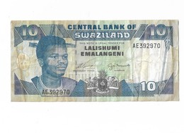 SWAZILAND 10 EMALANGENI - Swaziland