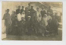 """GUERRE 1914-18 - BATEAUX - Belle Carte Photo Militaires & Médecins Sur Navire Hôpital """"ASIE"""", Liaison SALONIQUE - TOULON - Guerre 1914-18"""