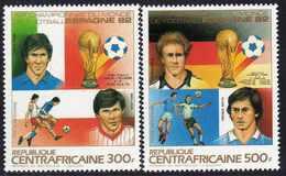 """Centrafricaine P. A.  N° 285 / 86 XX """"Espana'82"""", Coupe Du Monde De Football, Les 2 Valeurs Sans Charnière, TB - Centrafricaine (République)"""