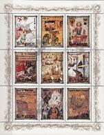 DPR Korea 1984 Sc. 2438a-i Historic European Royalty, Scenes - Ritratti Monarchi Europei - Carlo VII - Enrico VIII Sheet - Arte