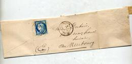 Lettre Cachet Beaumesnil Sur Ceres + Cherbourg à Paris - Marcophilie (Lettres)