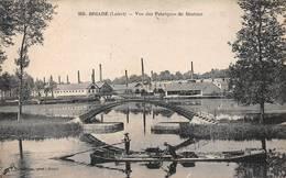 Briare Péniche Péniches Fabriques De Boutons - Briare