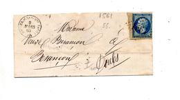 Fragment De Lettre Cachet Losange ?? + Bale à Paris - 1849-1876: Periodo Clásico