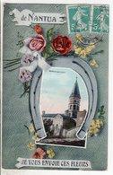 Cpa De Nantua Je Vous Envoie Ces Fleurs 1909 - Nantua