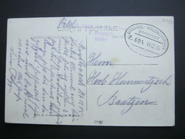 1915 ,  BRÜSSEL - VALENCIENNES   Z. 604- Bahnpost , Carte Postale Militaire Allemagne - WW I